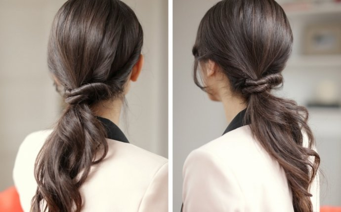Twist Ponytail Hairstyles - Beautiful Long Hairstyle