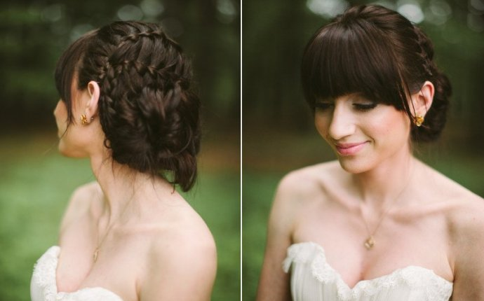 Updo Hairstyles With Braids And Bangs - Best Layered Haircuts